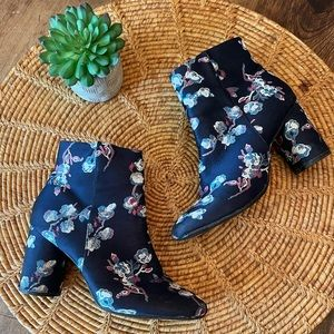 {Urban Outfitters} Fun Floral Jacquard Bootie